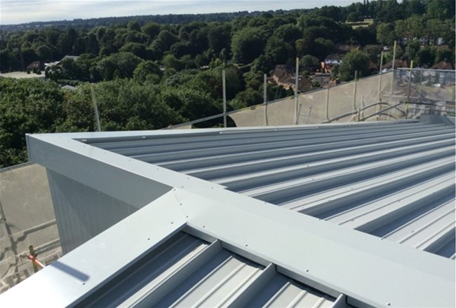 Langley - Sunningdale Court - finished roof detail